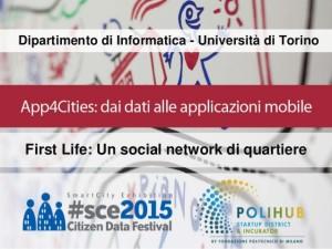 FirstLife, il social di Torino Capitale dell'Innovazione