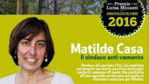 Matilde Casa è l'Ambientalista 2016