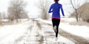 Correndo tra i fiocchi di neve