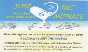 "Il 22 settembre ""Just the Animals"""