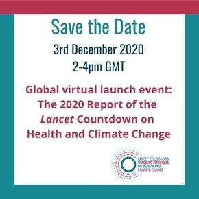 Il lancio globale del rapporto sul conto alla rovescia di Lancet 2020