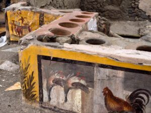 Pompei a tavola: il menù del giorno 24 ottobre 79 d.C.
